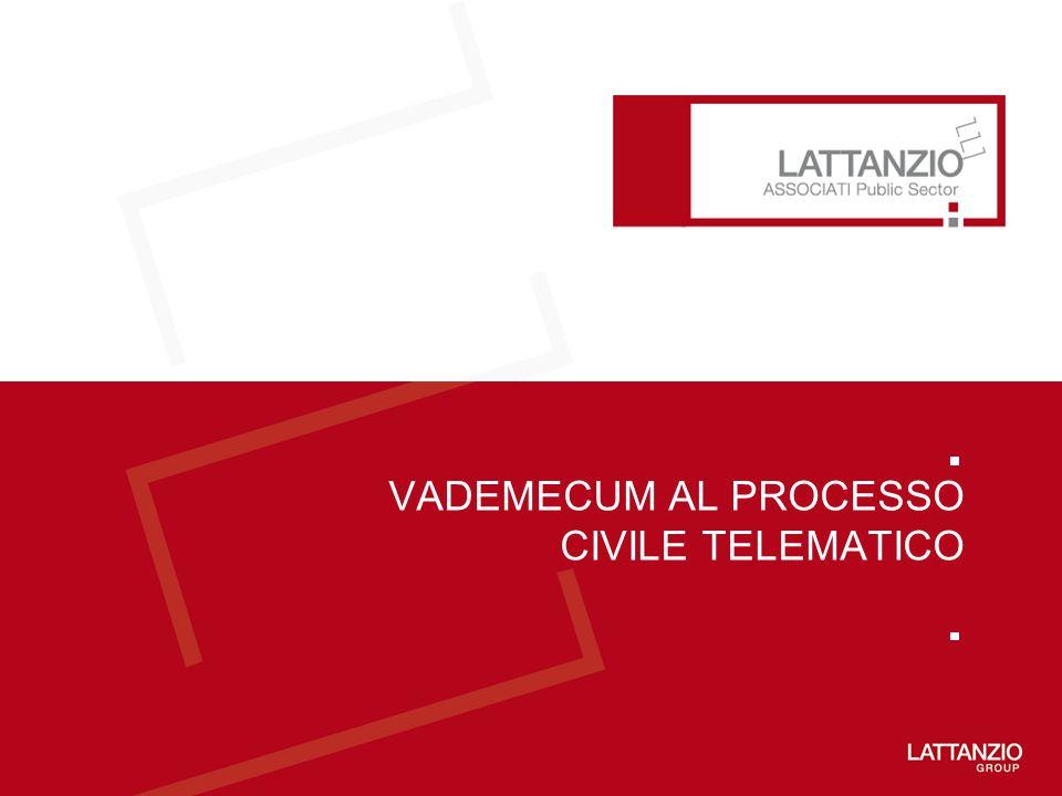 VADEMECUM AL PROCESSO CIVILE TELEMATICO