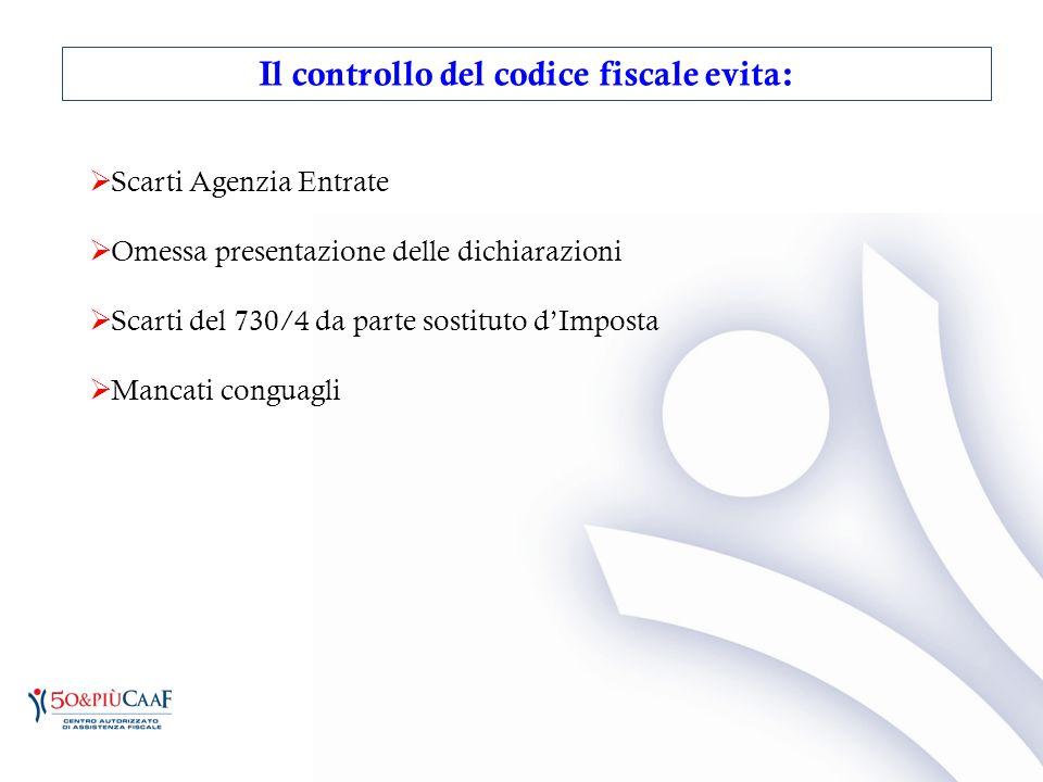  Scarti Agenzia Entrate  Omessa presentazione delle dichiarazioni  Scarti del 730/4 da parte sostituto d'Imposta  Mancati conguagli Il controllo d
