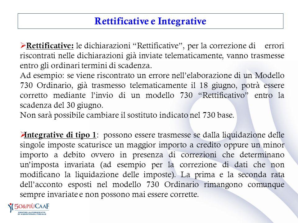 """ Rettificative: le dichiarazioni """"Rettificative"""", per la correzione di errori riscontrati nelle dichiarazioni già inviate telematicamente, vanno tras"""