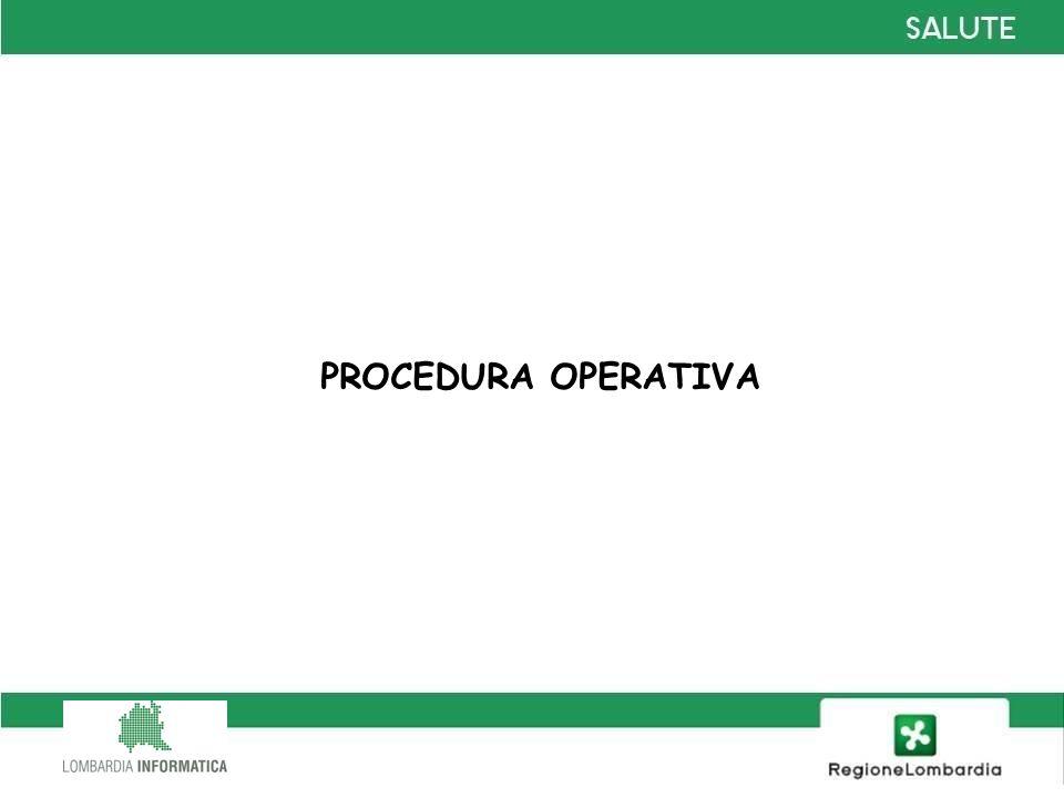 PROCEDURA OPERATIVA