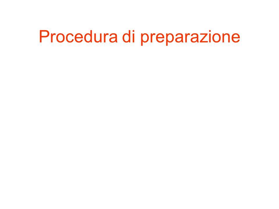 Procedura di preparazione