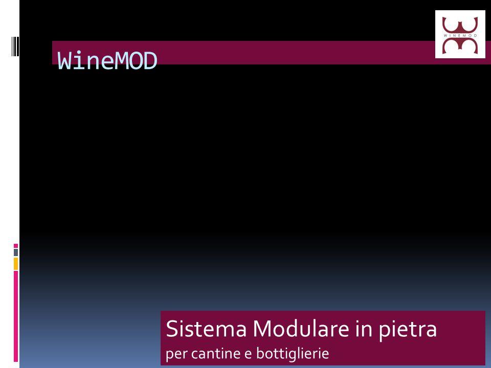 WineMod è un sistema modulare in pietra che consente la realizzazione di angoli cantina e bottiglierie con un design accattivante e adatto ad ogni ambiente:contemporaneo o classico.