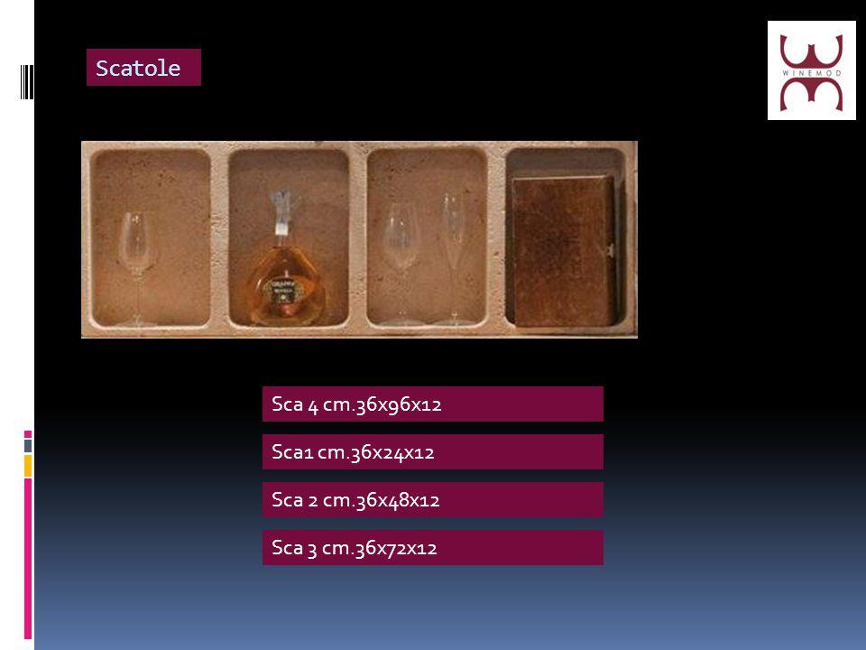 Scatole Sca 4 cm.36x96x12 Sca1 cm.36x24x12 Sca 2 cm.36x48x12 Sca 3 cm.36x72x12