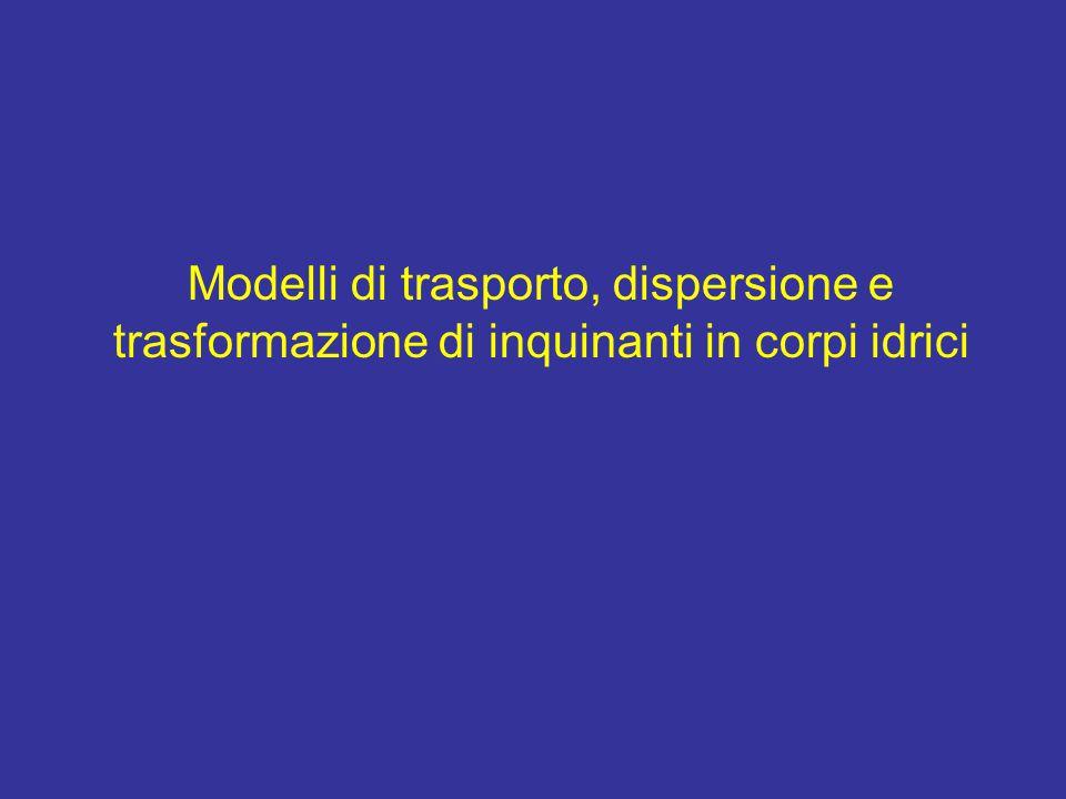 Modellidi dispersione: acqua Modelli di dispersione: acqua Near field Mid field Far field 3 D 2 D: depth averaged 1 D: section averaged