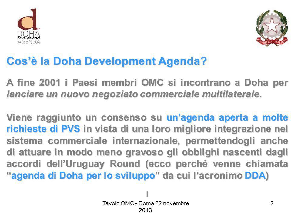 Cos'è la Doha Development Agenda.