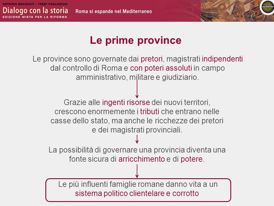 Le province sono governate dai pretori, magistrati indipendenti dal controllo di Roma e con poteri assoluti in campo amministrativo, militare e giudiziario.