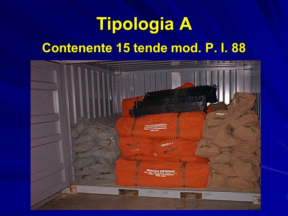 Tipologia B Contenente 6 tende mod.P.I.88 e 36 posti letto