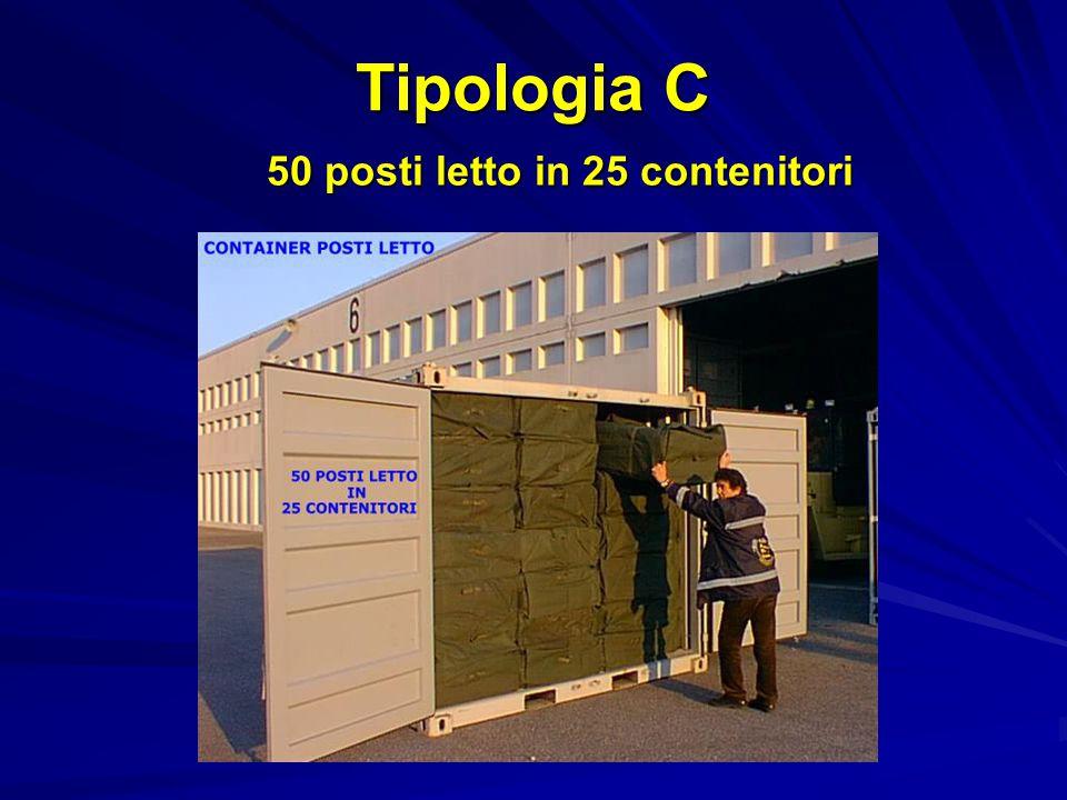 Tipologia C 50 posti letto in 25 contenitori