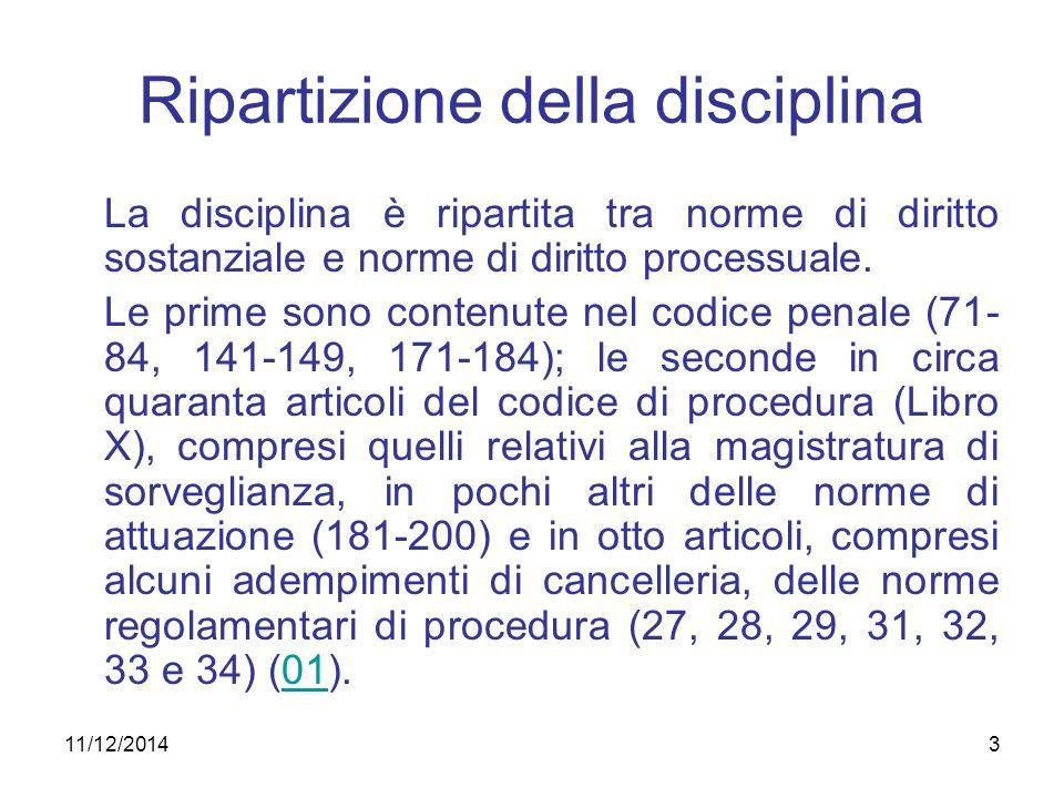 3 Ripartizione della disciplina La disciplina è ripartita tra norme di diritto sostanziale e norme di diritto processuale. Le prime sono contenute nel