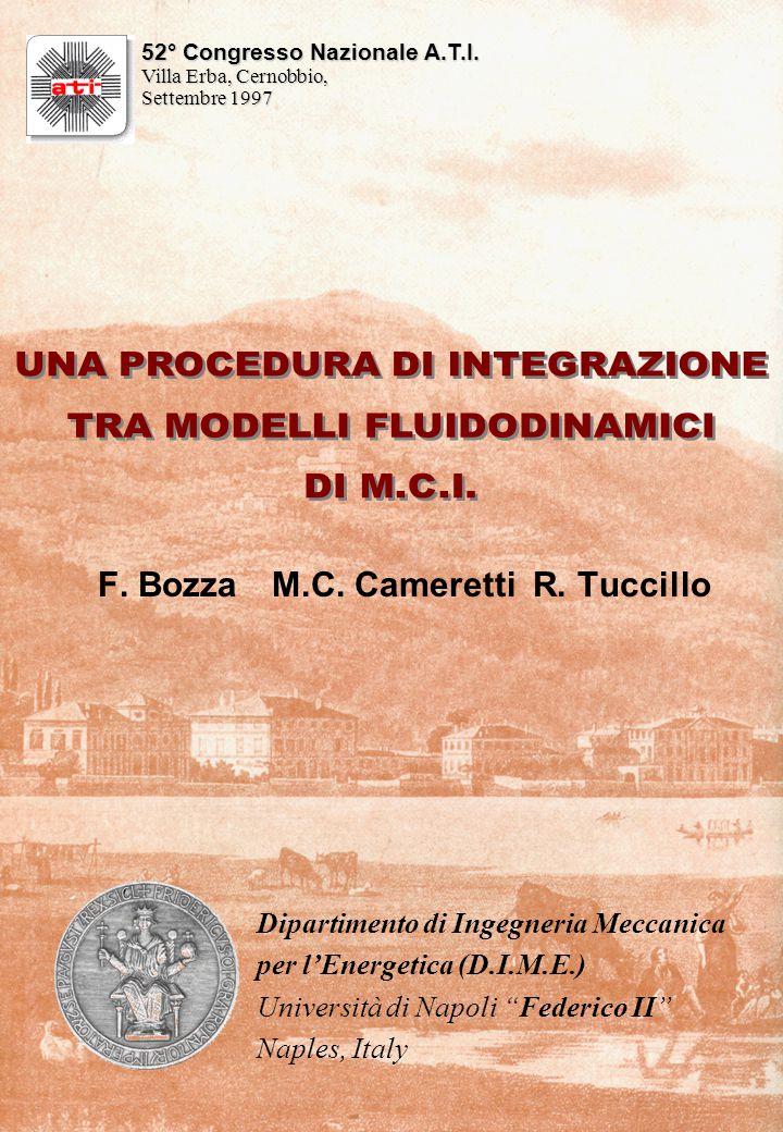 F. BozzaM.C. Cameretti R. Tuccillo 52° Congresso Nazionale A.T.I.