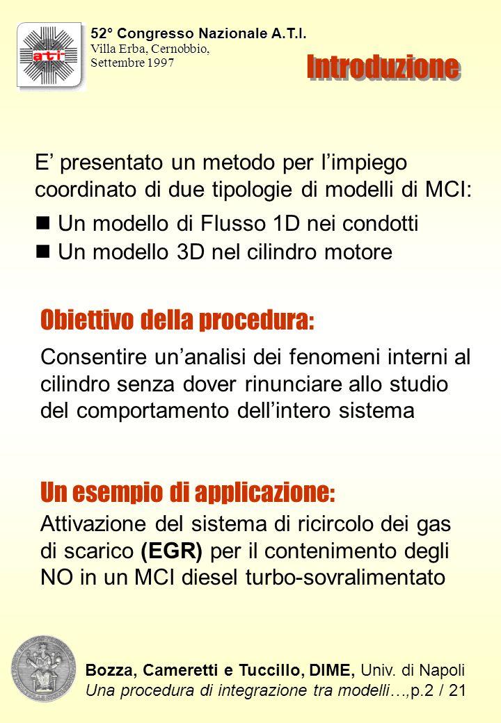 Simulazione 1D del Motore pluricilindro Prestazioni complessive: Bozza, Cameretti e Tuccillo, DIME, Univ.