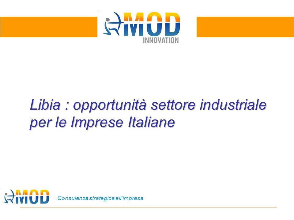 Consulenza strategica all'impresa Libia : opportunità settore industriale per le Imprese Italiane