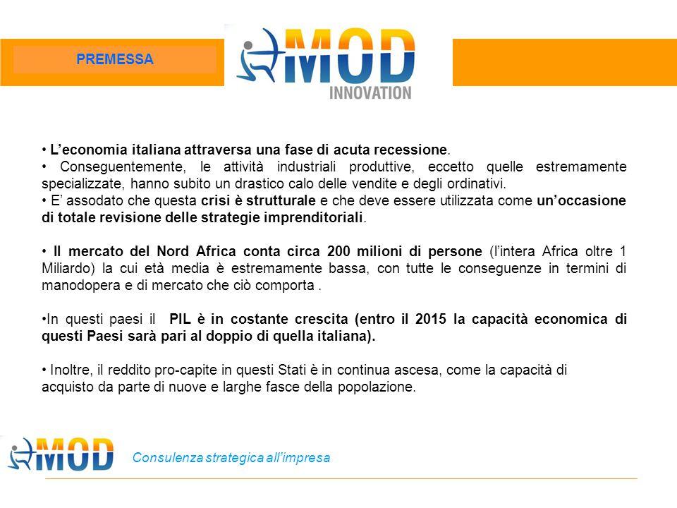 Consulenza strategica all'impresa L'economia italiana attraversa una fase di acuta recessione. Conseguentemente, le attività industriali produttive, e