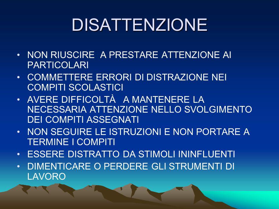 DEFICIT DELL'APPRENDIMENTO DISLESSIA DISGRAFIA DISCALCULIA DIFFICOLTÀ DI ACQUISIZIONE DI NUOVE INFORMAZIONI