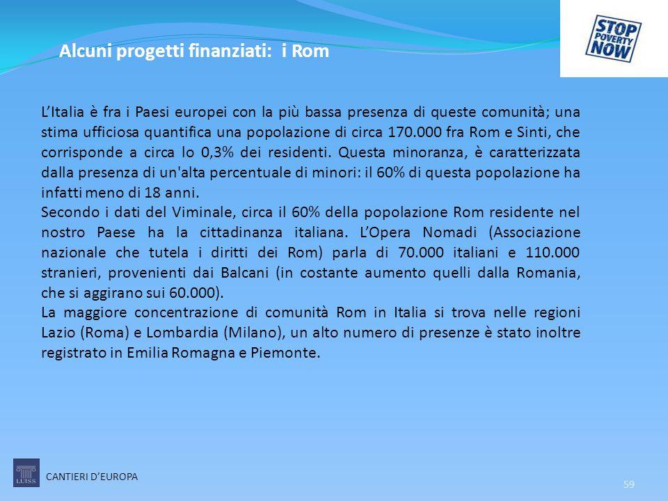 59 L'Italia è fra i Paesi europei con la più bassa presenza di queste comunità; una stima ufficiosa quantifica una popolazione di circa 170.000 fra Ro