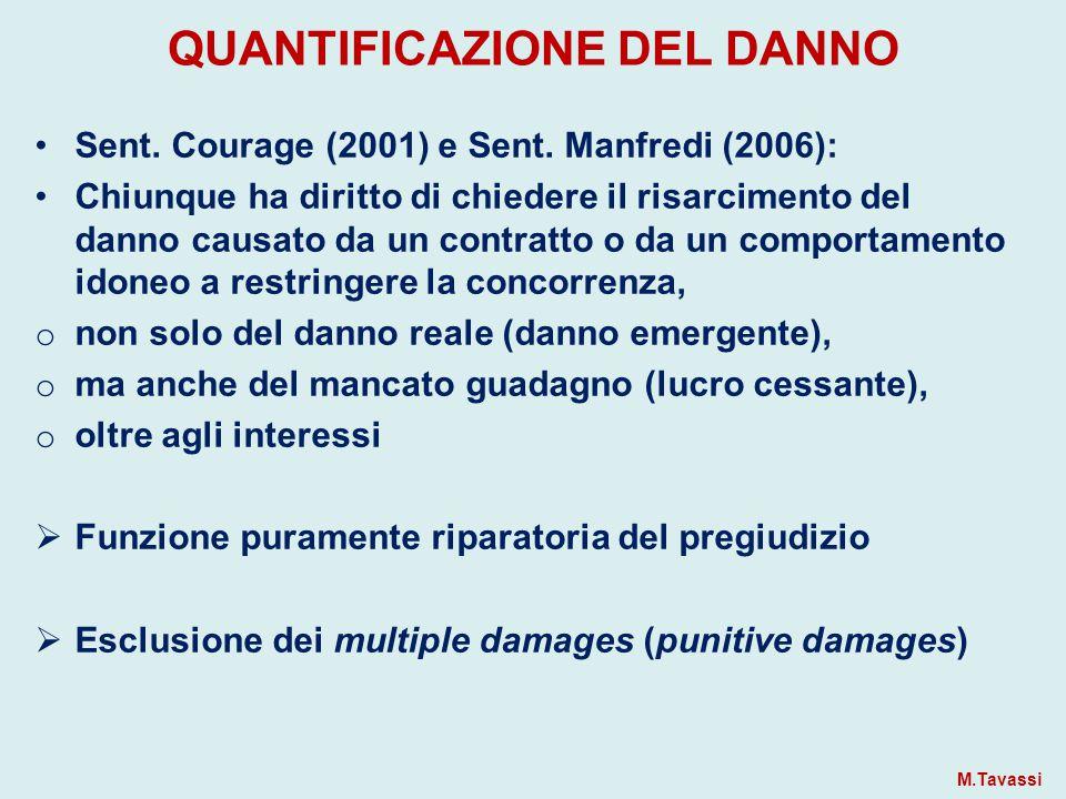 QUANTIFICAZIONE DEL DANNO Sent.Courage (2001) e Sent.