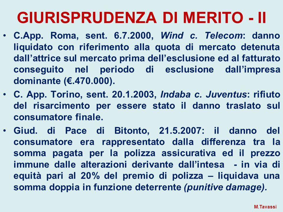 GIURISPRUDENZA DI MERITO - II C.App.Roma, sent. 6.7.2000, Wind c.
