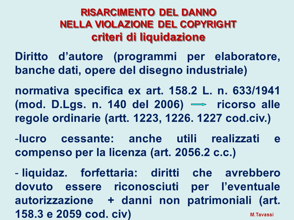 NUOVE INDICAZIONI  Cass.3.4.2013 n. 8110 (Pres. Berruti, est.