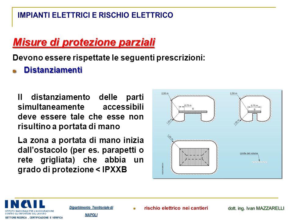 Misure di protezione parziali Devono essere rispettate le seguenti prescrizioni:Distanziamenti Il distanziamento delle parti simultaneamente accessibi