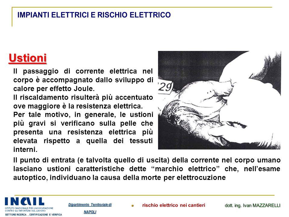 Il passaggio di corrente elettrica nel corpo è accompagnato dallo sviluppo di calore per effetto Joule. Il riscaldamento risulterà più accentuato ove
