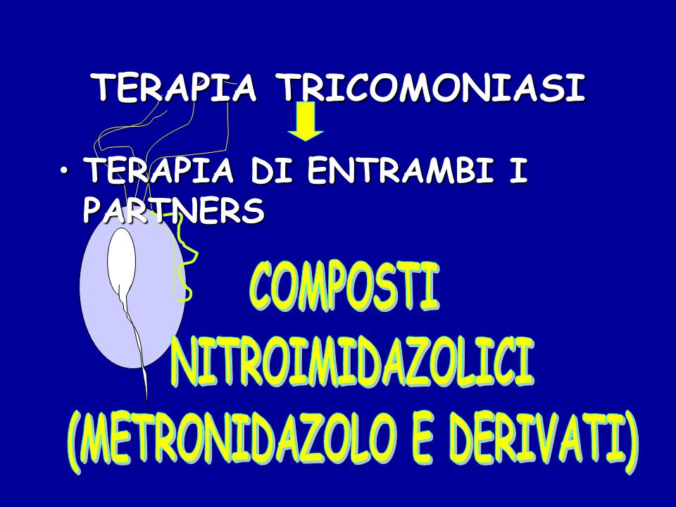 TERAPIA TRICOMONIASI TERAPIA DI ENTRAMBI I PARTNERSTERAPIA DI ENTRAMBI I PARTNERS