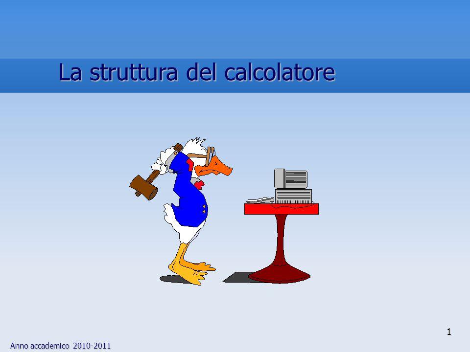 Anno accademico 2010-2011 1 La struttura del calcolatore