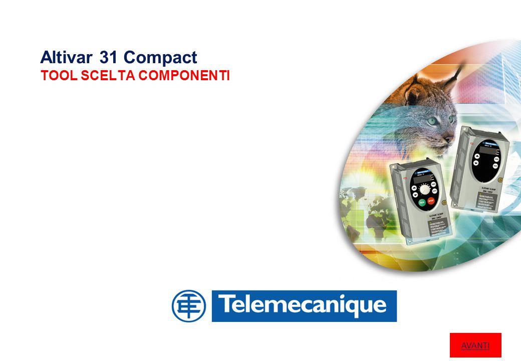 Altivar 31 Compact TOOL SCELTA COMPONENTI AVANTI