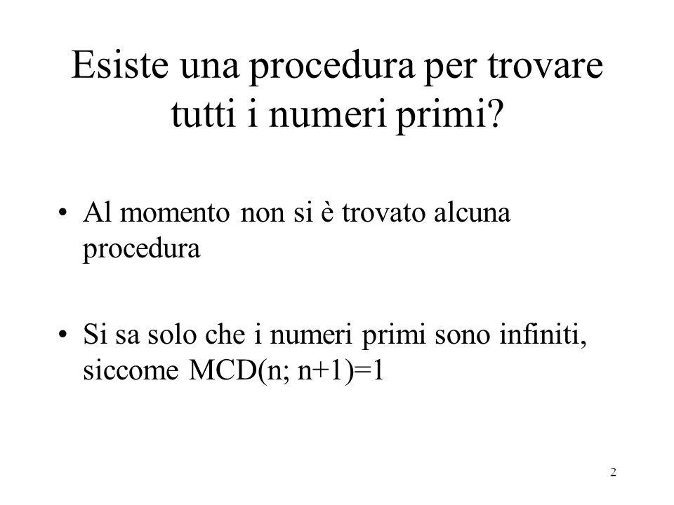 93 Numeri di Mersenne Calcolo di (2 n -1)/(2-1): Se n=7, Si ha: (2 7 -1)/(2-1) = 127: Ma 127 è un numero primo.