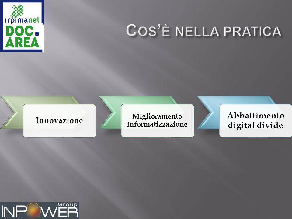 Innovazione Miglioramento Informatizzazione Abbattimento digital divide