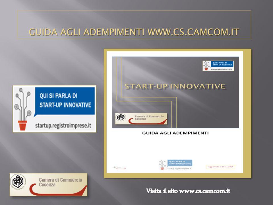 GUIDA AGLI ADEMPIMENTI WWW.CS.CAMCOM.IT