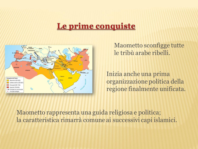 Maometto sconfigge tutte le tribù arabe ribelli. Inizia anche una prima organizzazione politica della regione finalmente unificata. Maometto rappresen