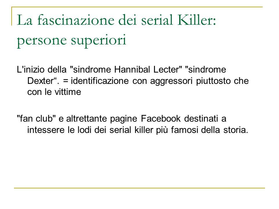 La fascinazione dei serial Killer: persone superiori L'inizio della
