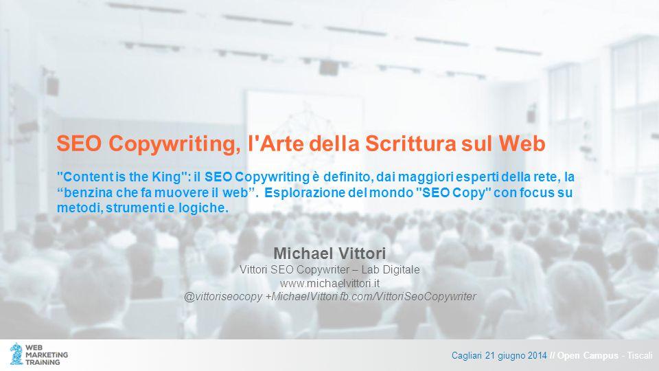 SEO Copywriting, l Arte della Scrittura sul Web Content is the King : il SEO Copywriting è definito, dai maggiori esperti della rete, la benzina che fa muovere il web .