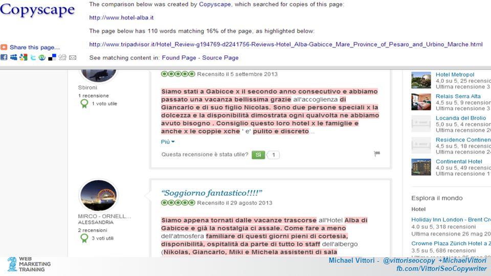 Michael Vittori - @vittoriseocopy +MichaelVittori fb.com/VittoriSeoCopywriter Prova prova