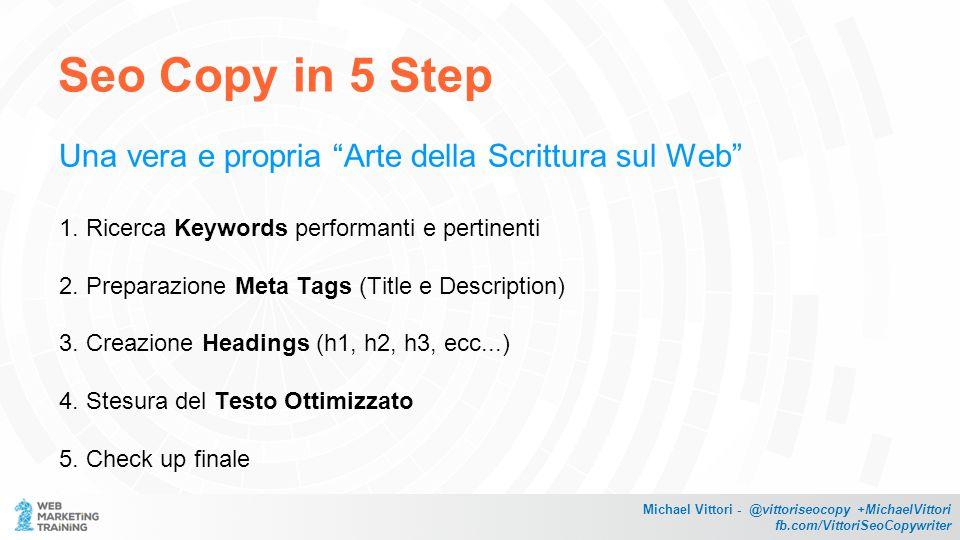 Seo Copy in 5 Step Una vera e propria Arte della Scrittura sul Web 1.