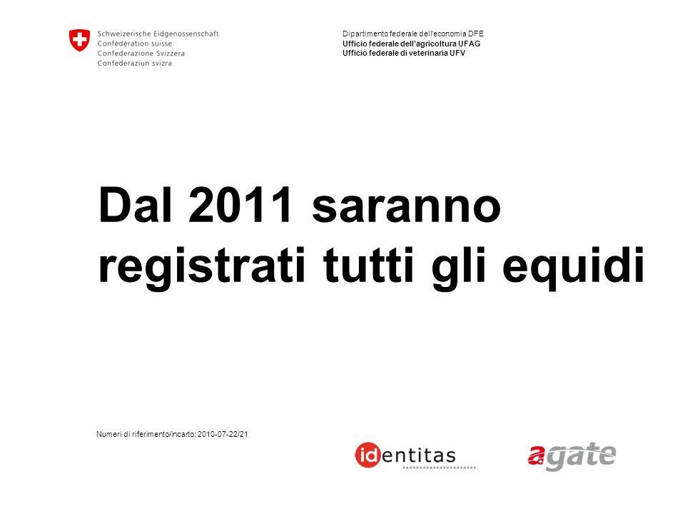 22 BDTA Equidi | Cosa cambia dal 2011 Domande frequenti (2) Perché il passaporto deve scortare il cavallo.