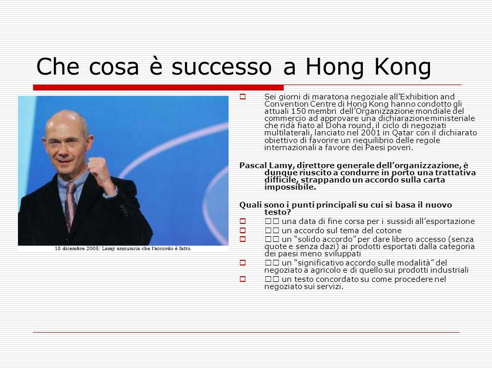 Che cosa è successo a Hong Kong  Sei giorni di maratona negoziale all'Exhibition and Convention Centre di Hong Kong hanno condotto gli attuali 150 me