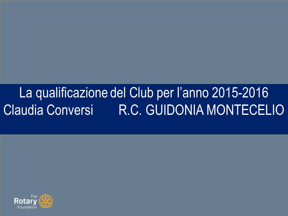La qualificazione del Club per l'anno 2015-2016 Claudia ConversiR.C. GUIDONIA MONTECELIO