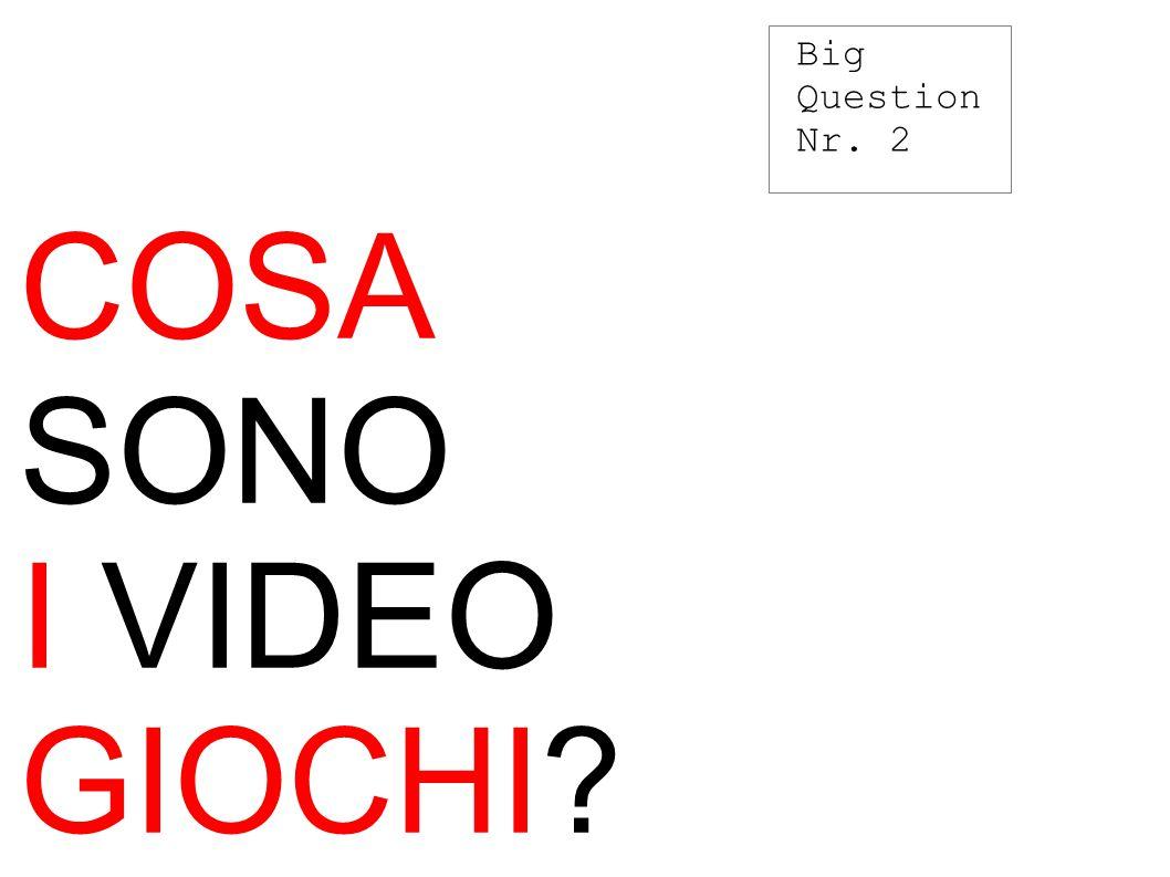 COSA SONO I VIDEO GIOCHI Big Question Nr. 2