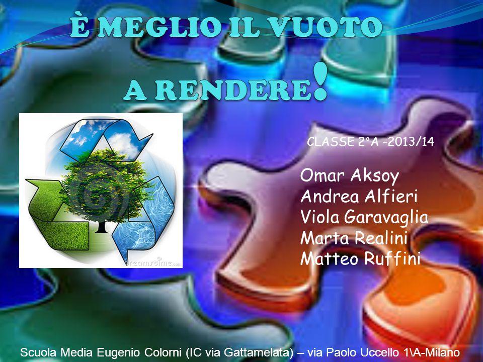 Omar Aksoy Andrea Alfieri Viola Garavaglia Marta Realini Matteo Ruffini Scuola Media Eugenio Colorni (IC via Gattamelata) – via Paolo Uccello 1\A-Milano CLASSE 2°A -2013/14