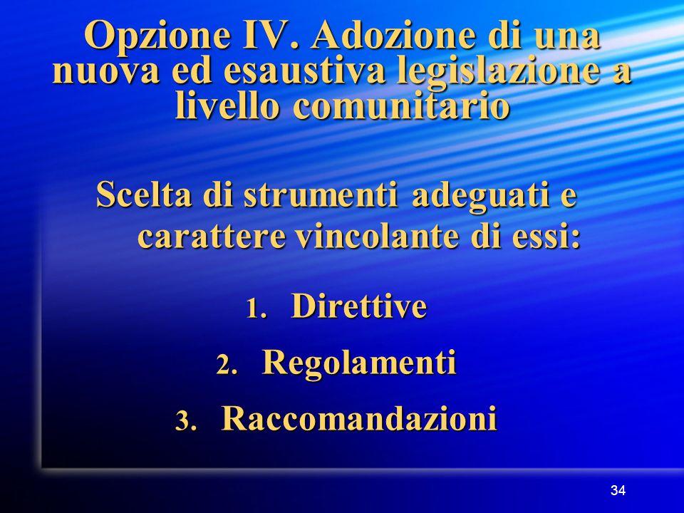 34 Opzione IV.