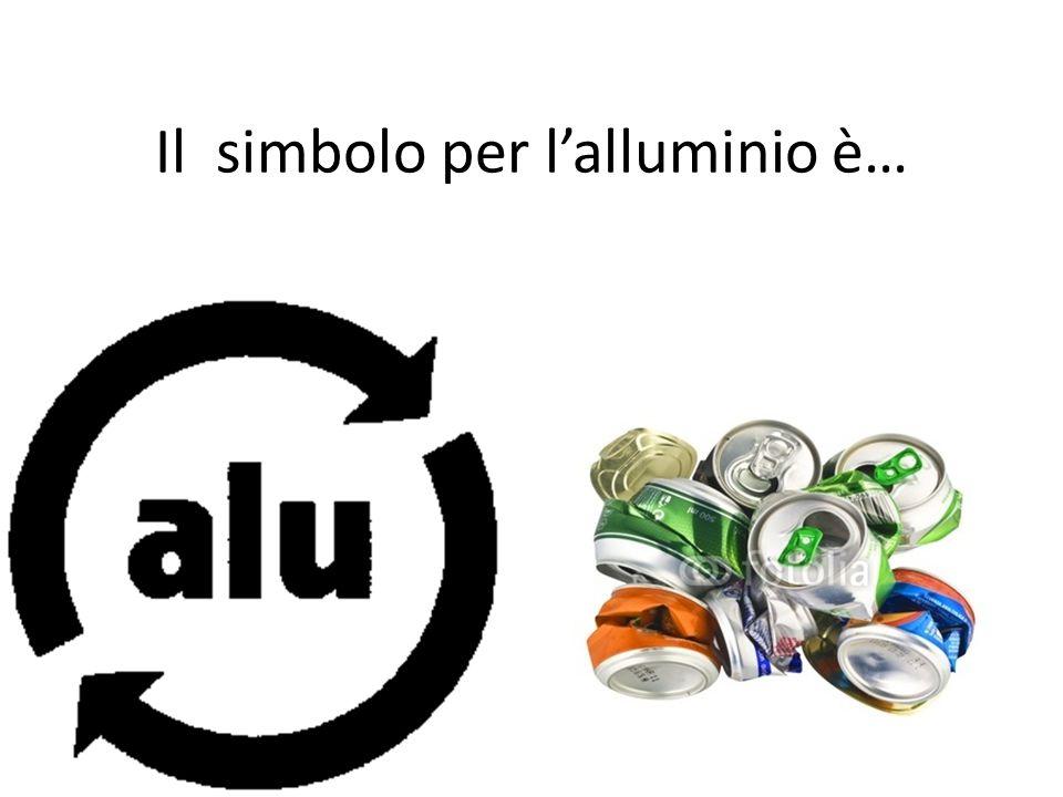 Il simbolo per l'alluminio è…