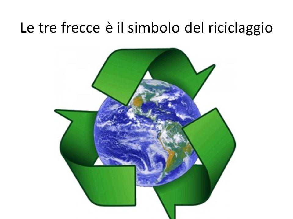 Le tre frecce è il simbolo del riciclaggio