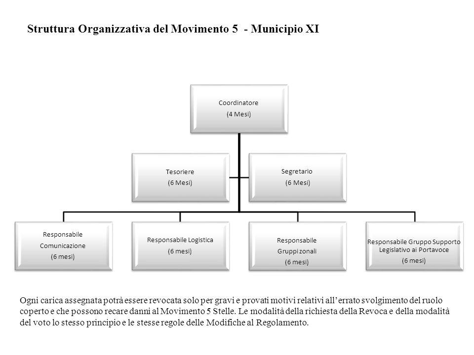Coordinatore (4 Mesi) Responsabile Comunicazione (6 mesi) Responsabile Logistica (6 mesi) Responsabile Gruppi zonali (6 mesi) Responsabile Gruppo Supp