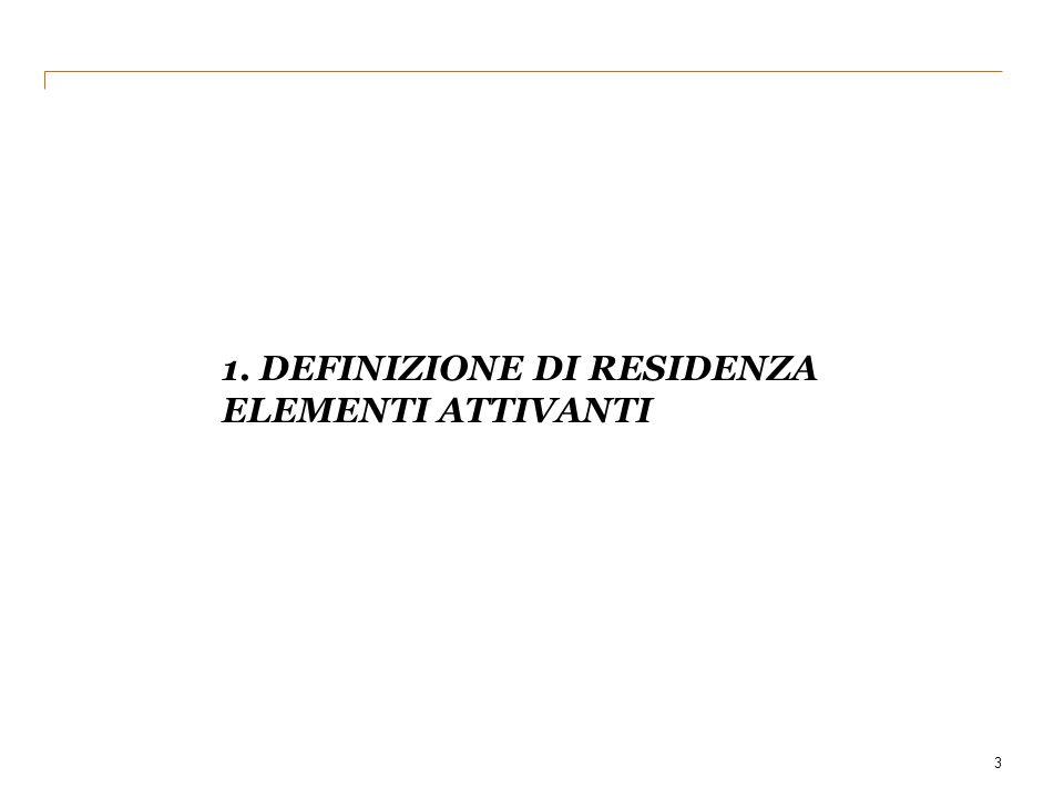 1. DEFINIZIONE DI RESIDENZA ELEMENTI ATTIVANTI 3