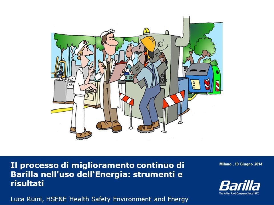 Il processo di miglioramento continuo di Barilla nell'uso dell'Energia: strumenti e risultati Luca Ruini, HSE&E Health Safety Environment and Energy M