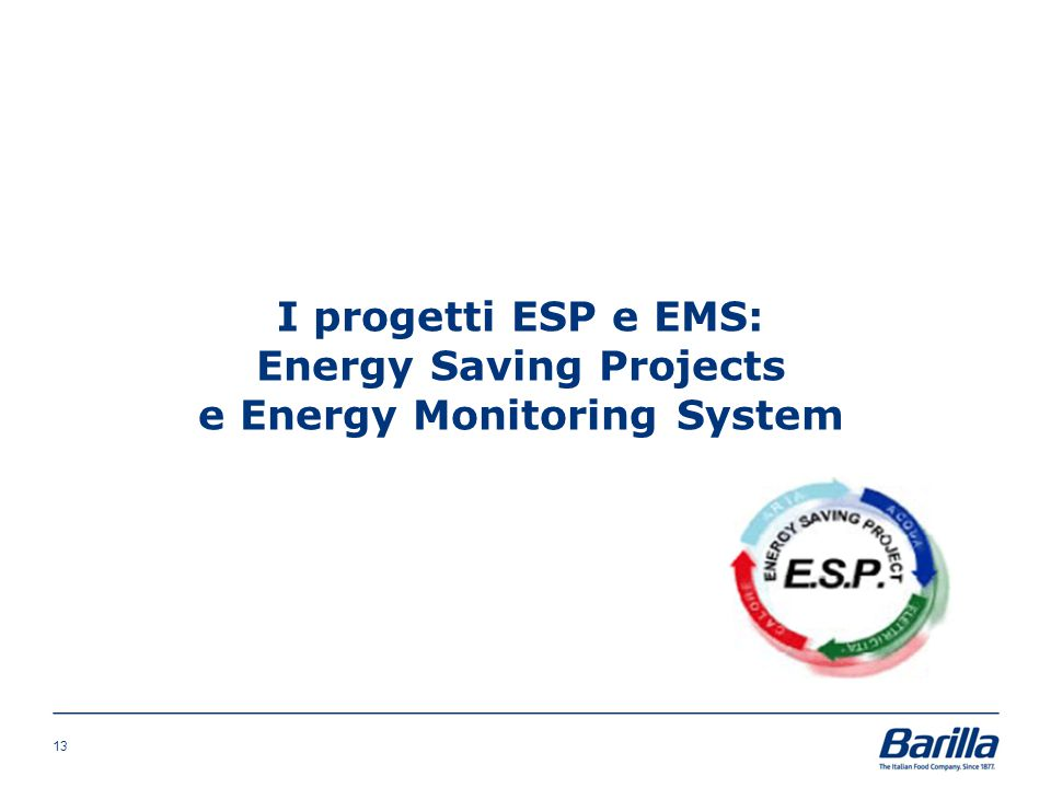 I progetti ESP e EMS: Energy Saving Projects e Energy Monitoring System 13