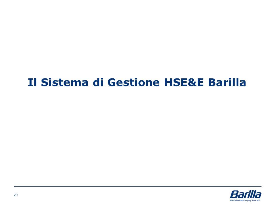 Il Sistema di Gestione HSE&E Barilla 23