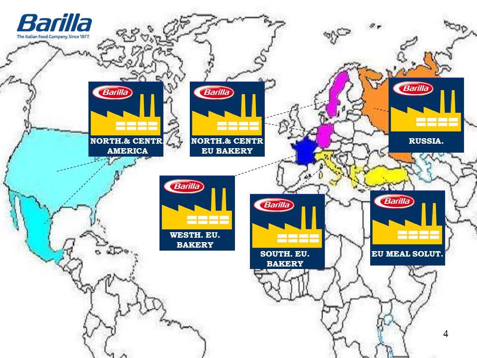 SOUTH. EU. BAKERY EU MEAL SOLUT. WESTH. EU. BAKERY NORTH.& CENTR EU BAKERY NORTH.& CENTR. AMERICA RUSSIA. 4