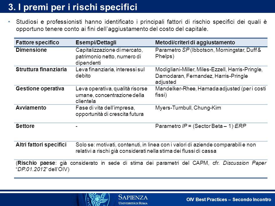 Modelli per la stima del costo del capitale.S APIENZA U NIVERSITÀ DI R OMA 3.